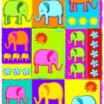 """""""Patchwork Elephants"""" by DezineZone"""