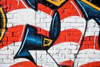 US Flag theme Graffiti