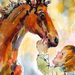 """Buddies - Original Watercolor Painting by Ginette"" by GinetteCallaway"