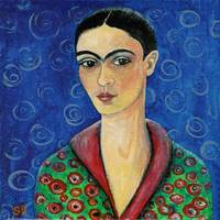 Frida with a hint of Klimt