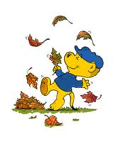 Ferald Dancing Amongst The Autumn Leaves