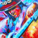 """Stevie Ray Vaughan Portrait-Double Trouble"" by phoenixwmn"