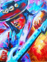 Stevie Ray Vaughan Portrait-Double Trouble