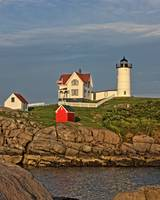 Nubble Light In Low Sun