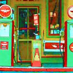 """Impression: Flying A Gas Station"" by noelzialee"