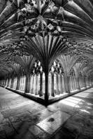 The Cloister at Canterbury Cathedral (II - portrai
