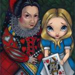 """Alice and the Queen of Hearts"" by strangeling"