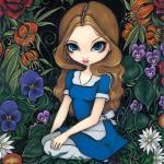 """Alice and the Flowers"" by strangeling"