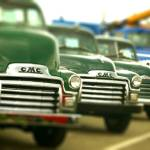 """Lot a green old trucks"" by Knocktwice10"