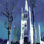 """American Gothic Church by RD Riccoboni"" by BeaconArtWorksCorporation"