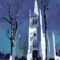 American Gothic Church by RD Riccoboni Art Prints & Posters by RD Riccoboni