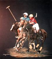 Polo Fever painting