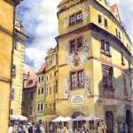 """""""Prague Karlova Street Hotel U Zlate Studny"""" by shevchukart"""