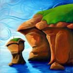 """Romance On The Rocks"" by HoedlGicleeFineArtPrints"