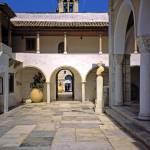 """""""Inner Courtyard, Parish Church, Hydra, Greece"""" by PriscillaTurner"""