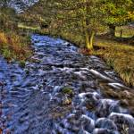 """River Ceiriog, Llanarmon, Wales"" by markahwood"