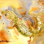 """Specko Gecko, Abstract Watercolor Painting Art"" by schulmanart"
