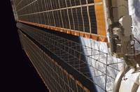 Solar array wing on International Space Station.