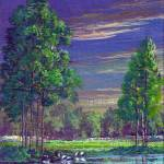 """Pristine Pines-Tryptych 1"" by cyber_highwaymen"