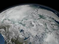 April 26, 2006 - Sea ice above North America.