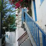 """Blue Stair Railing, Mykonos"" by OneMansPerspectives"