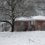 """brick house in snow"" by imagineit"