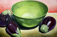 Green Bowl with Eggplant