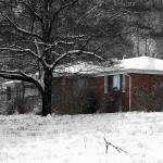 """brick house in snow study"" by imagineit"