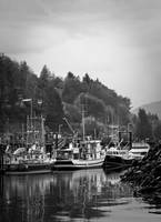 Alert Bay British Columbia in Black and White