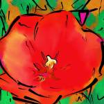 """Astral Red Bloom"" by petersart"