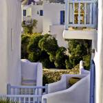 """Blue Shutters, Mykonos"" by madeline"