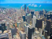 Chicago Skyline Vibrant Colors Effect 2