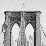 """Brooklyn Bridge as a drawing"" by JimNesterwitz"