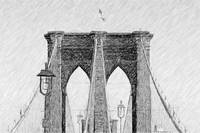 Brooklyn Bridge as a drawing