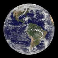 Full Earth showing Hurricane Paloma.