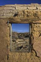 Abandoned Building Window Sandia Mountains New Mex