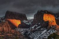 Setting Winter Sun on Kolob Canyon 1