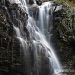 """Waterfall at Logan Pass Glacier National Park"" by jimcrotty"