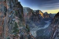 Winter Dusk and Angel's Landing Zion National Park