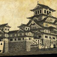 Himeji Castle (Parchment) Art Prints & Posters by Isaac Root