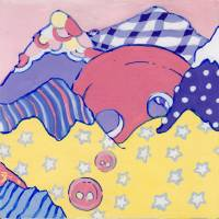 Button Mountains Art Prints & Posters by Kat Scott