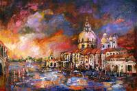 Impressionism Venice Sunset Italy Grand Canal