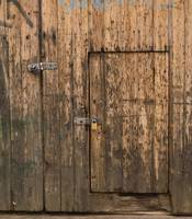 Aged Lock-up Door