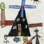 """Mr Miller and his windmill"" by lulusprintshop"