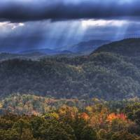 Autumn in Great Smoky Mountains by Jim Crotty by Jim Crotty