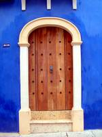 Blue Wall and Door