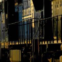 conrail train Art Prints & Posters by eugene anderson