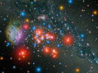 Red Super Giant Cluster with Supernova Remnant.