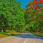 """Skyline Drive Road Scene Fake HDR Bright Colors"" by brianyoung81"
