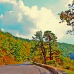 """Skyline Drive Road Fake HDR Bright Colors 8X10"" by brianyoung81"